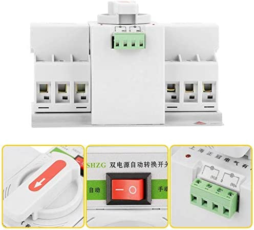 WXQ-XQ 220V 63A 3Pミニインテリジェントデュアルパワー自動転送スイッチサーキットブレーカジェネレータキット1個のデュアル電源自動転送スイッチは、承認します 遮断器