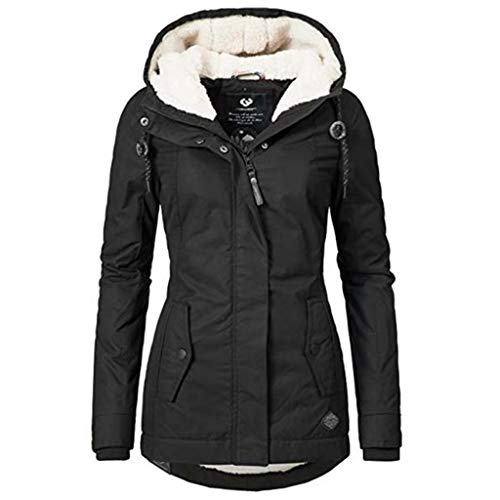 SMILEYTH 여성 자켓 오버 코트 DRAWSTRING 후드 퍼지 양털 겨울 트렌치 코트 아웃웨어