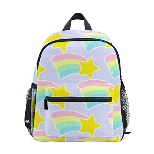 Kids Backpack, Rainbow Star Brightly Printing School Book Bags for Children Girls Boys Unisex