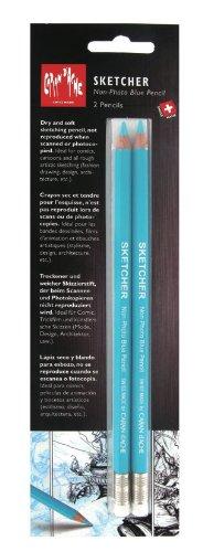 Caran d'Ache Sketcher Non-Photo Blue 2 Pc Blister Card (903.302 ) ()