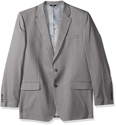 Haggar Men's Solid Gab Stretch Tailored Fit Suit Separate Coat, Grey ()