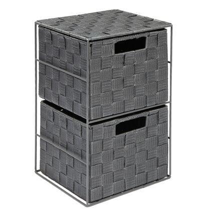 Ehc 2cassetti, armadio per camera da letto/bagno–grigio Elite