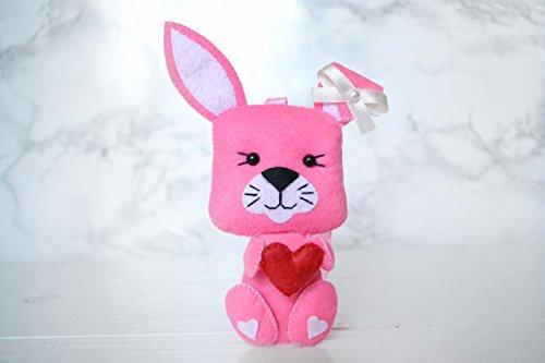 Felt Easter Rabbit Felt Hare Ornaments Decorations Easter Rabbit Toy Cute Felt Gift Felt Animals Felt Gifts Rabbit Toy Gift For Kids