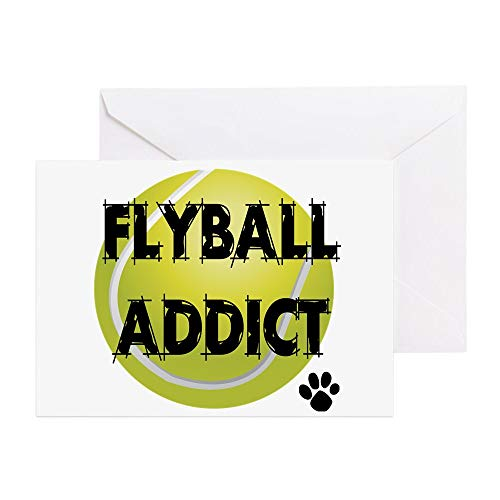 - CafePress Flyball Addict Greeting Card, Note Card, Birthday Card, Blank Inside Glossy