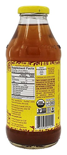 Guayaki - Organic Yerba Mate Unsweetened Mint Lemon Terere 2 Bright citrusy flavor with a bit of sweet and tart 55mg naturally occuring caffeine per serving Certified organic, certified Kosher