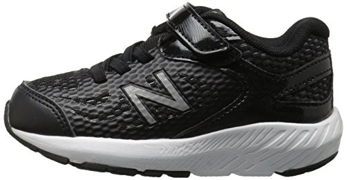 New Balance Boys' 519v1 Hook and Loop Running Shoe Black/White 2 M US Infant by New Balance (Image #5)