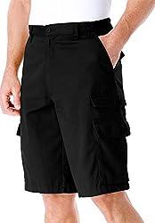 Ranger Side Elastic Cargo Shorts, Olive Big-52