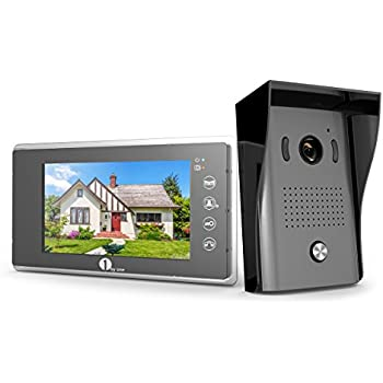 1byone Video Doorphone 2 Wires Video Intercom System 7 Inch Color Monitor  And HD