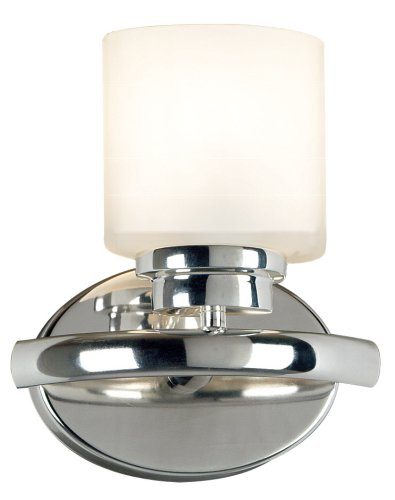 Kenroy Home 3390 Bow One-Light Sconce, Polished Nickel with White Globe (Sconce Polished Hunter)