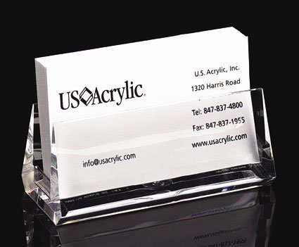 Amazon acrylic business card holder clear 15h x 375w x acrylic business card holder clear 15quoth x 375quot reheart Images