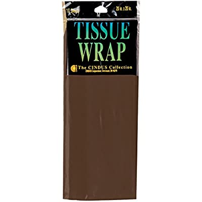 """Cindus Tissue Wrap (10 Pack), 20"""" by 20"""", Brown by Cindus"""