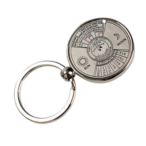 Diamondo Mini Perpetual Calendar Keychain Ring Unique Metal Keyring 50 Years