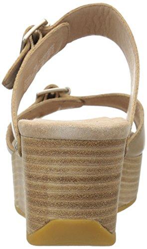 Dansko Kvinna Selma Plattform Sandal Sand Full Grain