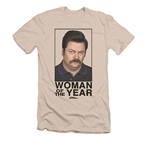 Parks and Recreation Woman Of The Year Mens Slim Fit Shirt