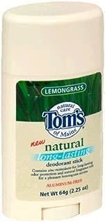 product image for Tom's of Maine Natural Deodorant Stick, Lemongrass, 2.25-Ounce Stick