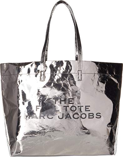 (Marc Jacobs Women's The Foil Tote Bag, Silver, One Size)