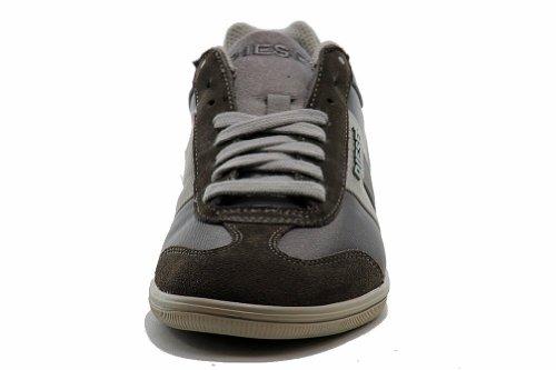 Diesel Vintagy Salon Noir Foncé Gris / Silex Baskets Chaussures De Mode