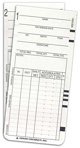 (300) Amano MRX-35 Time Cards (ARX-101300 / AMA101300 / ARX-104500 / MRXTC-50)