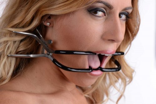 Rubber Coated Stainless Steel Jennings Gag by XR Brands