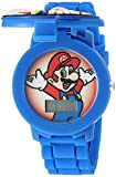 Nintendo Quartz Watch with Silicone Strap, Blue, 17.4 (Model: GMA3015)