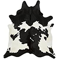 A-STAR Large White Cowhide Rug - Black And White Cow Hide Rug (5x6)