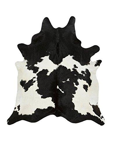 A-STAR (TM) Large White Cowhide Rug - Cow Hide Skin Rugs (5 x 5)