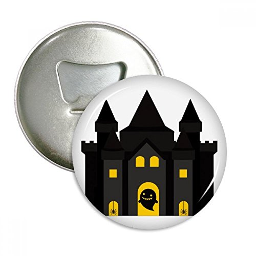 Fairy Tale Castle Colorful Illustration Round Bottle Opener Refrigerator Magnet Pins Badge Button Gift - Button Fairy Pin