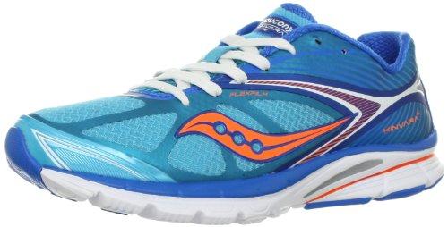 Saucony Women's Kinvara 4 Running Shoe,Blue/Orange,7 M US