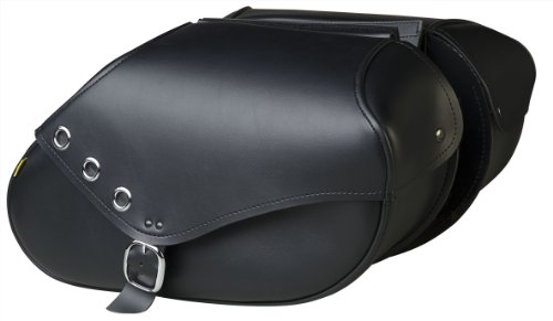 (Willie & Max By Dowco - Revolution Series - Grommet Hard Mount Motorcycle Saddlebag Set - Lifetime Limited Warranty - UV Protection - Maintenance Free Synthetic Leather - Large - Up To 37.25L Capacity [ 03438 ] )