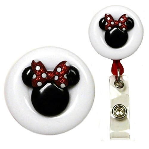 Mouse Ears Real Charming Decorative ID Badge Holder (Minnie Swivel -