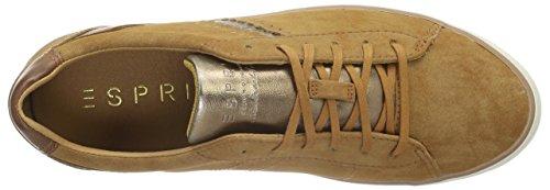 Esprit Damen Miana Lace Up Sneaker Braun (235 Caramel)
