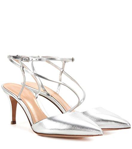 Tobillo Con Mujer Kolnoo Plata De Correa Zapatos Ianx5vqSB