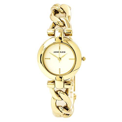 Anne Klein Women's AK/2836JADE Gold-Tone Watch and Gemsto...