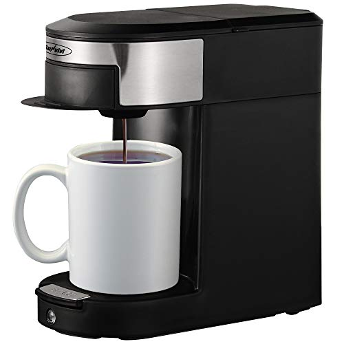 Coffee Maker Single Serve, Coffee Pod & Tea Pod 2 in 1 Coffee Machine, Black