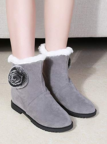 YSFU Botas Botas De Nieve Nieve Nieve para Mujer Zapatos Cómodos De Moda Cálidos para Mujer Botines Botín Casual Otoño Invierno Al Aire Libre Cálido Plano Antideslizante 184eb8