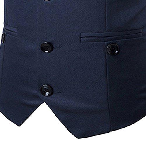 Slim Affaires Marineblau Manches Casual Hommes Fit Basic Blazers De Jolime Vest Sans Suit Mariage 4wPUqntX