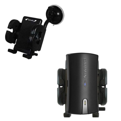 Windshield Vehicle Mount Cradle suitable for the Garmin GLO - Flexible Gooseneck Holder with Suction Cup for Car / Auto.