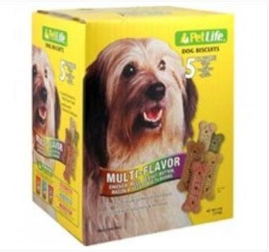 Pet Life Medium Variety Biscuits for Dogs, 4-Pound by Sunshine Mills