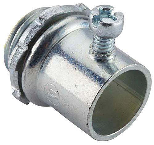 Steel Set Screw Connectors for EMT Conduit (1/2 in. diameter; 50-pack) ()