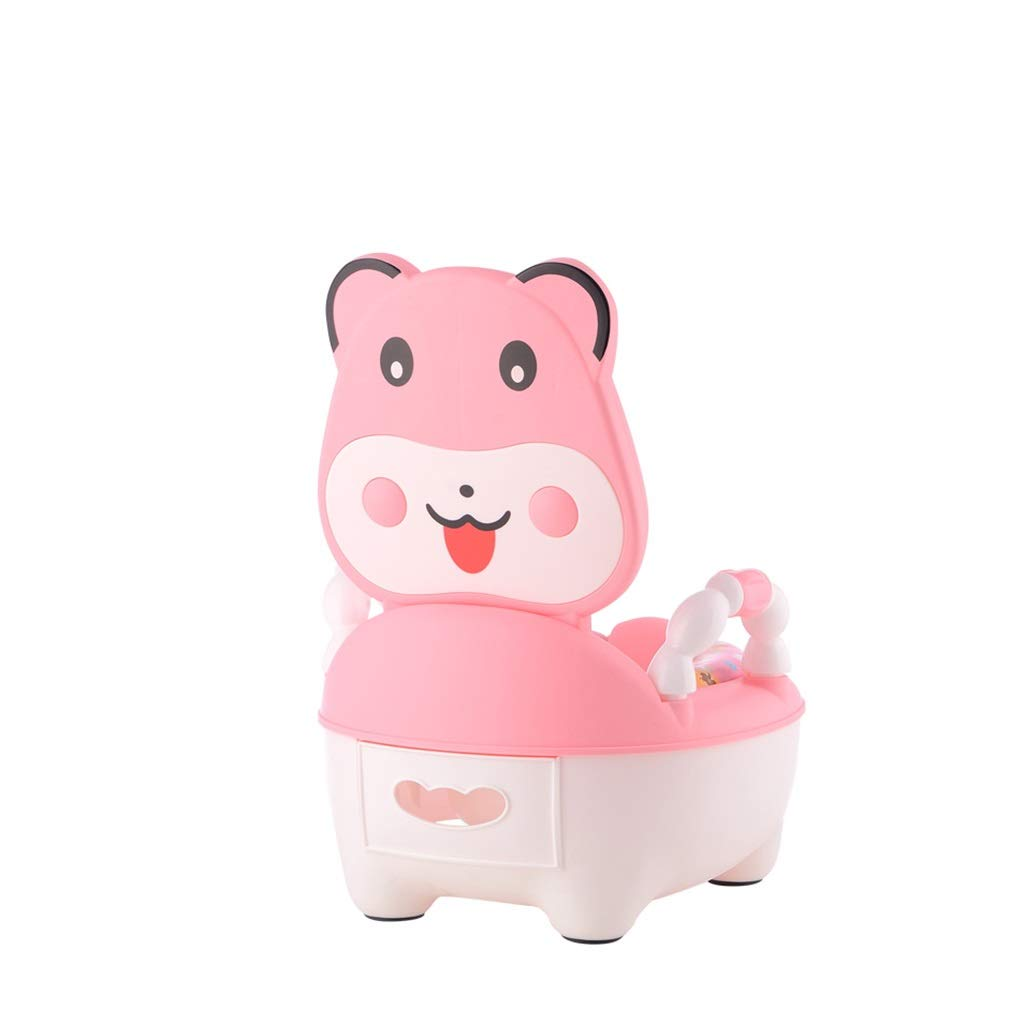XWJC Children's Toilet Baby Soft Toilet Male Potty Girl Toilet 1-3 Years Old (Color : Pink)