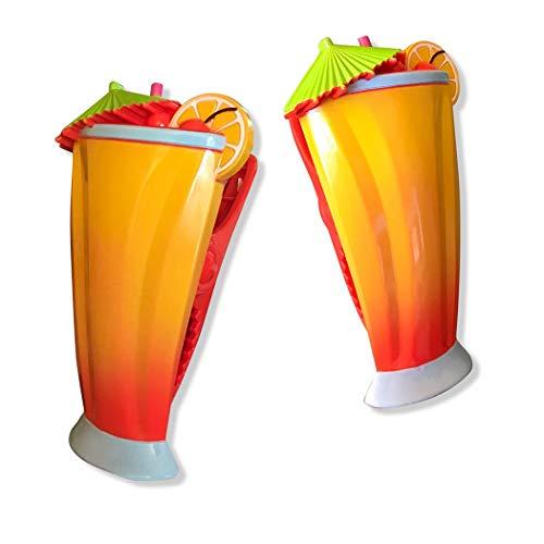 O2COOL Caribbean Boca Towel Clip, 1-Pack, Carribean Cocktail