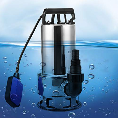 Homdox Submersible Water Pump 1.5 HP 1100W Garden Stainless Steel Sump Pump Pool Pump with Float Switch and 15ft Cable