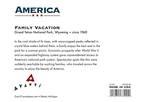 Avanti Historic America Blank Notecards, Family Vacation Travel Trailer, 10-Count