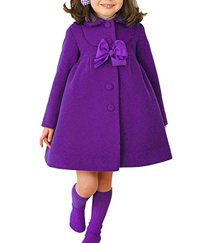 CL Online Pretty Thick Bowknot Girl Overcoat Dress Coat Outer Wear Winter Spring (Cinderalla Dress)