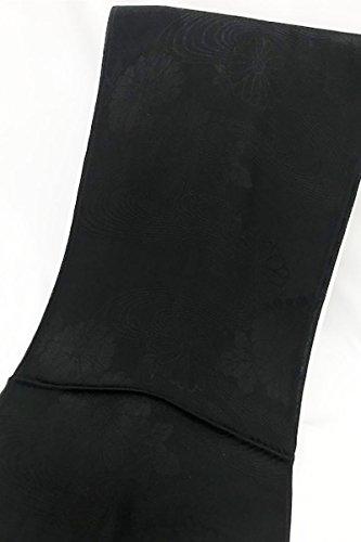 損なうのれん退屈な喪服用 正絹帯揚げ(黒)