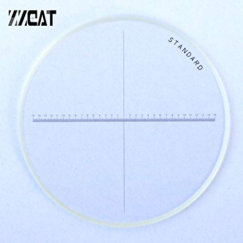 Mercury_Group, 947 Diameter 35mm High Accuracy Microscope Accessory Cross Line Reticle One-Axis Reticles Optical Glass Microscope Micrometer - (Color:Diameter 35mm)