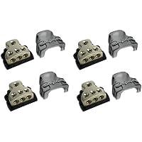 4) ROCKFORD FOSGATE RFD4 0/1/4-Gauge Ga Car Audio Distribution Blocks 1-In 3-Out
