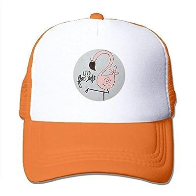 SunRuMo Let's Flamingo Unisex Trucker Hat Mesh Cap With Adjustable Snapback Strap Black by SunRuMo