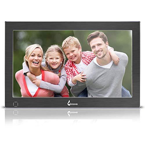 BSIMB Digital Picture Frame Digital Photo Frame 13.3 inch 1920×1080(16:9) IPS Display Hi-Res Digital Photo & HD Video Frame and Motion Sensor USB/SD Card Playback Infrared Remote Control M14(Black)
