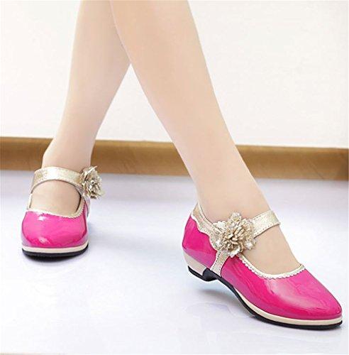 happylove , Chaussures à lacets mixte enfant fille bébé fille mixte bébé - rouge - rose,